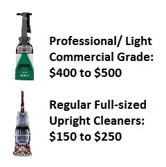 Professional vs Home Upright Carpet Cleaning  Machines Cost