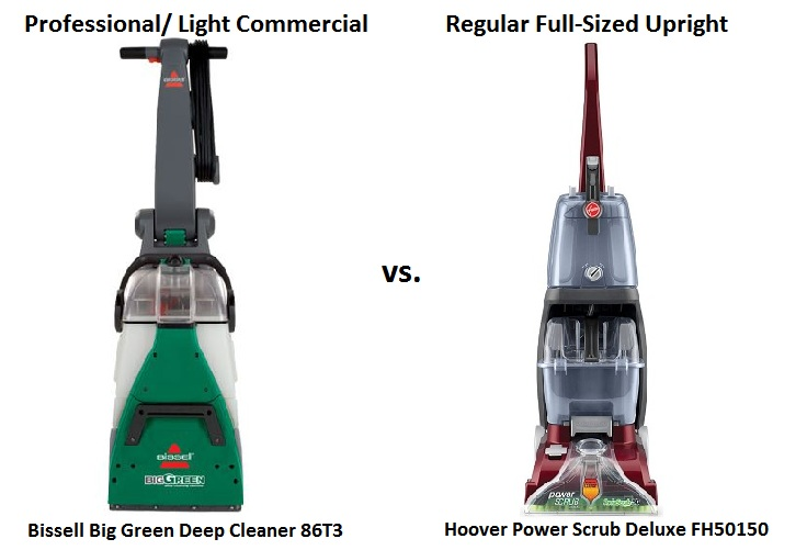 Professional vs regular upright home carpet cleaners comparison