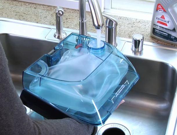 bissell bladder water tank system