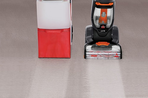 Bissell 1548 ProHeat 2X Revolution vs leading rental cleaner